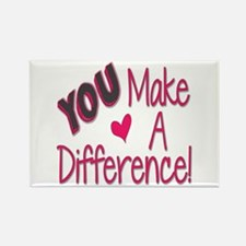You Make A Difference Rectangle Magnet Magnets