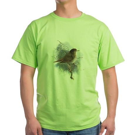 Hermit Thrush 1 Green T-Shirt