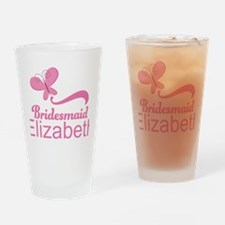 Cute Bridesmaid Personalized Gift Drinking Glass