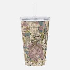 Vintage Map of Houston Acrylic Double-wall Tumbler