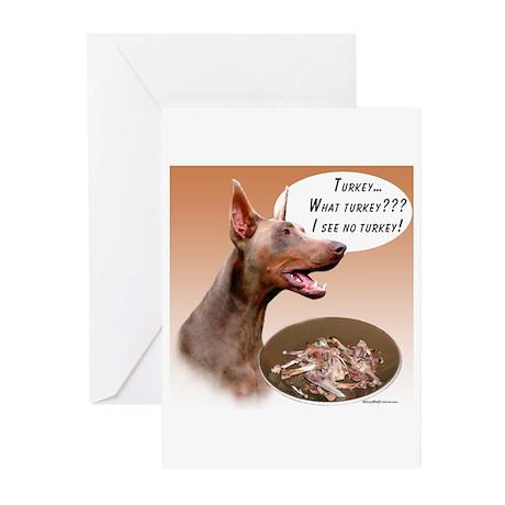 Dobie Turkey Greeting Cards (Pk of 20)