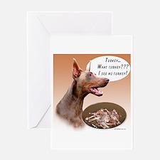Dobie Turkey Greeting Card