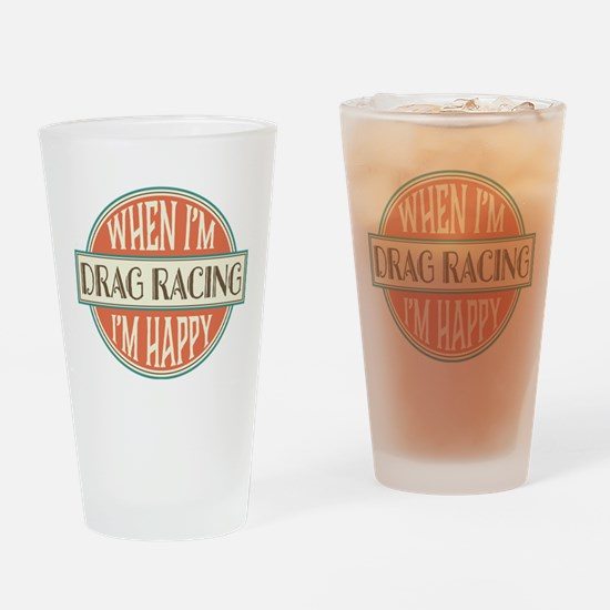 happy drag racer Drinking Glass
