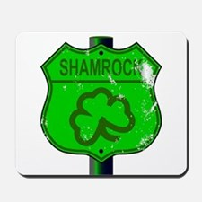 Spoof Shamrock Route 66 Sign Mousepad