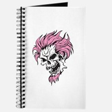 Crazy Pink Hair Punk Skull Journal