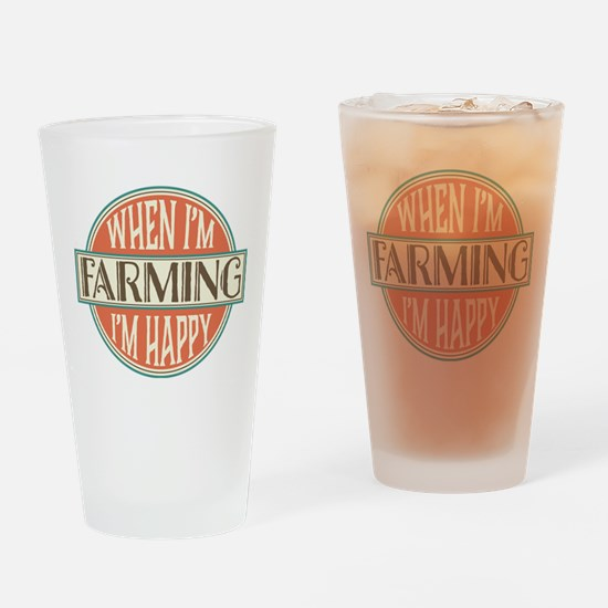 happy farmer Drinking Glass