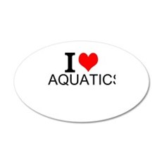 I Love Aquatics Wall Decal