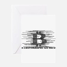 IN CRYPTOGRAPHY WE TRUST Greeting Cards
