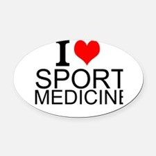 I Love Sports Medicine Oval Car Magnet