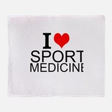I Love Sports Medicine Throw Blanket
