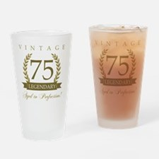 Cute 75th birthday Drinking Glass