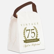 Funny Old age Canvas Lunch Bag