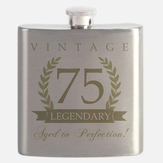 Cute 75th birthday Flask