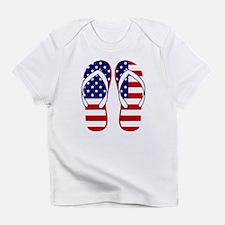 American Flag flip flops Infant T-Shirt