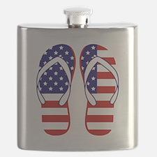 American Flag flip flops Flask