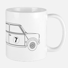 Compact Saloon Outline Drawing Mugs
