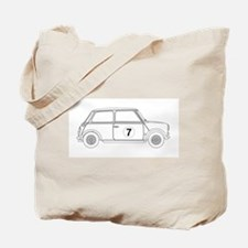 Compact Saloon Outline Drawing Tote Bag