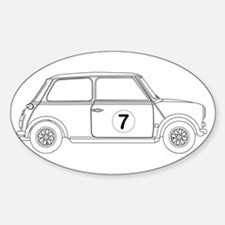 Compact Saloon Outline Drawing Decal