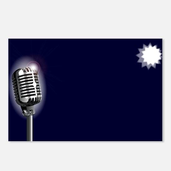 Karaoke Stage Night Postcards (Package of 8)