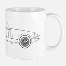 Sports Car Outline Mugs