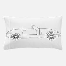 Sports Car Outline Pillow Case