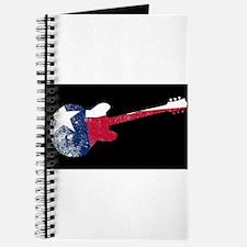 Texan Patriot Flag Guitar Journal