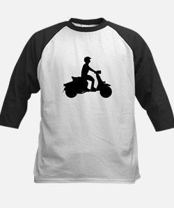 Scooter Rider Silhouette Baseball Jersey
