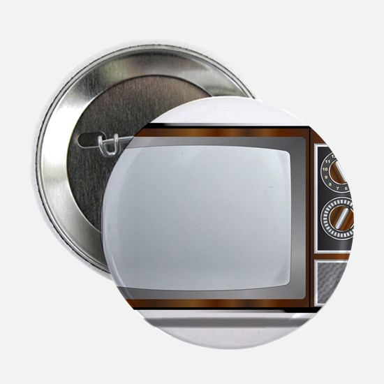 "Old Television Set 2.25"" Button"