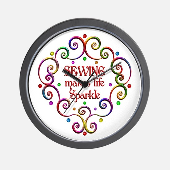 Sewing Sparkles Wall Clock