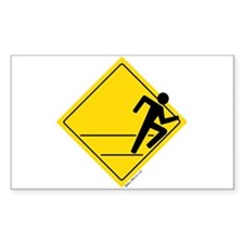 Runner Crossing Rectangle Decal