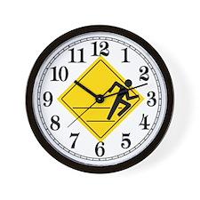 Runner Crossing Wall Clock