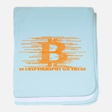 IN CRYPTOGRAPHY WE TRUST baby blanket