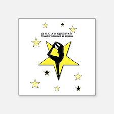 Yellow cheerleader personalized Sticker