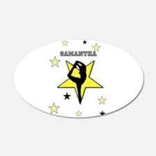 Yellow cheerleader personalized Wall Decal