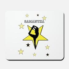 Yellow cheerleader personalized Mousepad