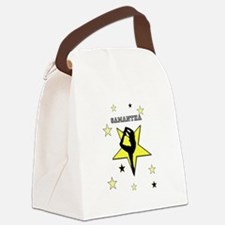 Yellow cheerleader personalized Canvas Lunch Bag