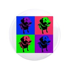 "Cute Lab retriever designs 3.5"" Button (100 pack)"