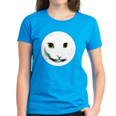 White Cat Face Tee