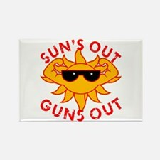 Sun's Out Guns Out #2 Rectangle Magnet