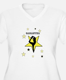 Yellow cheerleader personalized Plus Size T-Shirt