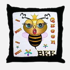 QUEEN BEE, Throw Pillow