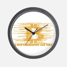 IN CRYPTOGRAPHY WE TRUST Wall Clock