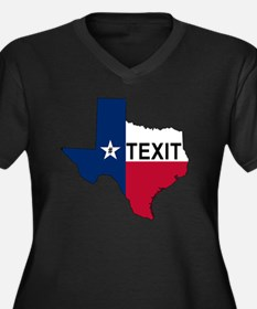 Cute Texas secession Women's Plus Size V-Neck Dark T-Shirt