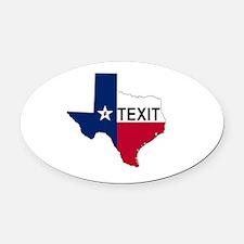 Funny Texas secede Oval Car Magnet
