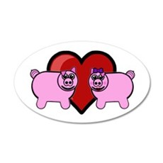 Piggy Love Wall Decal