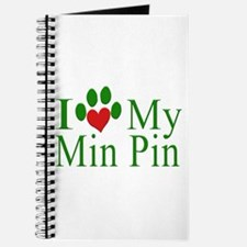 I Love My Min Pin Journal