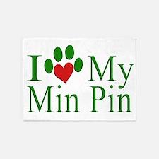 I Love My Min Pin 5'x7'Area Rug