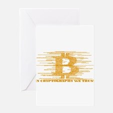 IN CRYPTOGRAPHY WE TRUST - GOLD Greeting Cards