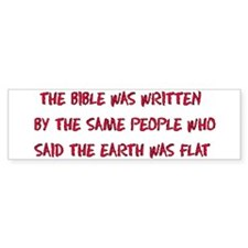 Flat Earth Bible Thumpers Bumper Bumper Sticker