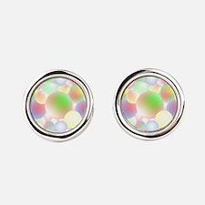 Unique Colors Round Cufflinks